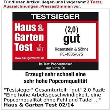 Rosenstein & Söhne Profi-Popcorn-Maschine für zu Hause - 6