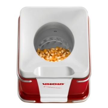 Blick in die Unold Popcornmaker Classic Hitzekammer