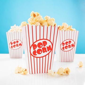 24x Popcorn Tüte rot-weiß gestreift - Popcorn Box für Kinoabend, Hollywood Party & Co -