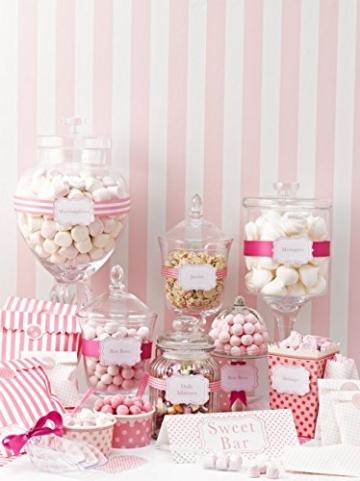 Talking Tables Pink-n-Mix Süßigkeitenbehälter, Popcorn-Design -